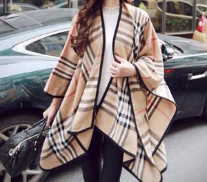 새로운 패션 겨울 격자 무늬 백화점과 여성 대형 숄을 위해 케이프와 랩 캐시미어 파시미나 여성 Bufanda Mujer을 따뜻하게