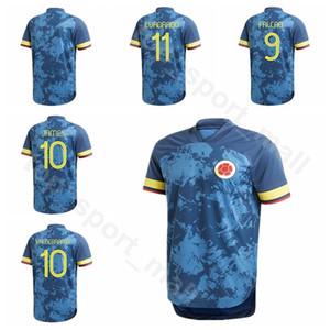 2020 Colombia Soccer Jersey 10 JAMES 9 FALCAO 11 CUADRADO MURIEL 19 15 URIBE 5 BARRIOS 13 MINA 6 TESILLO Football Shirt Kit