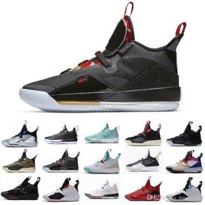 Neu Sale Jumpan 33 33s XXXIII Basketball-Schuhe CNY Travis SS Schuh Dunkelgrau Metallic-Silber-Schwarz SE Guo Ailun Sport-Turnschuhe
