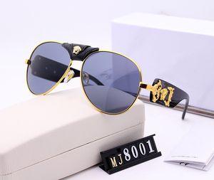 Óculos de sol da marca de moda high-end designer de lentes de alta definição dos homens óculos de sol polarizados Óculos de sol de sapo com embalagem de alta qualidade