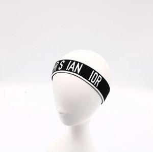 2019 nuovo alfabeto in bianco e nero nastro elastico fascia per gli uomini e le donne di moda elastico fasce per capelli turbante capo avvolge regali