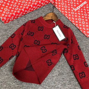 2019 INS Herbst und Winter Pullover aus reiner Baumwolle Rundkragen Pullover Kinder Kinder gestrickte Kleidung