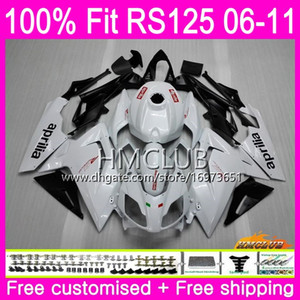 Injection For Aprilia RS-125 R RS125RR RS125 06 07 08 09 10 11 Pearl White 36HM.12 RS4 RSV125 RS 125 2006 2007 2008 2009 2010 2011 Fairing