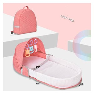 Детские спальные Люлька Сумка Дешевые Красочные New Born Складная младенца Travel Bed Портативный Infant кроватки с москитной сеткой