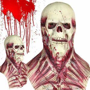 Halloween Party Masques Visage Complet Horreur Effrayant Masque En Latex Monstre Zombie Masque Maison Hantée Prop Drôle Cosplay Accessoires