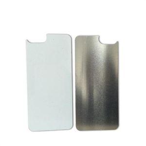 2D sublimazione Blank targhetta metallica per sublimazione Case for iPhone 11 PRO MAX XS Max X XR 8 Scheda 7 6 Plus in alluminio per lo scambio di calore