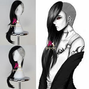 Tokyo вурдалак Ута маска Maker парик Длинные Волнистые Черный н серебристо-серый аниме парик Cosplay