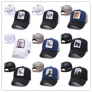Cappello Trucker Estate Con Snapbacks e ricamo degli animali per gli adulti delle donne degli uomini curvi regolabile Baseball Caps Designer Sun Visor