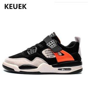 Nova Primavera / Autum Crianças Casual Shoes Meninos respirável Sneakers Estudante Sprots couro genuíno sapatos de bebê criança Crianças Flats 018