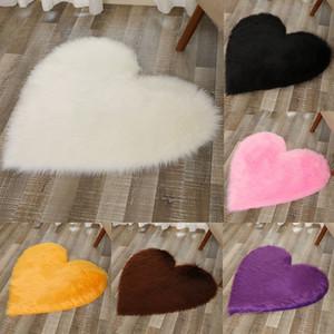 Peluche Amour Heart Tapis Tissu Couverture Coussin Sofa Sofa Coussin Salon Chambre à coucher Tapis Décoration Accueil Textiles DHL WX9-1861