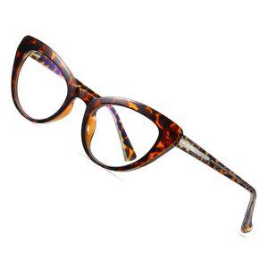 AOFLY BRAND DESIGN Cat Eye Blue Light Blocking Glasses Women Clear Optics Glasses Frame Female Fashion Computer Eyewear Ladies