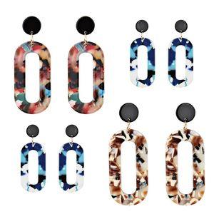 Guodong Han Door Jewelry Women 's Fashion Simple Earrings Acrylic Retro Earrings Europe and The United States Kua Zhang Er Fall From Jewelry