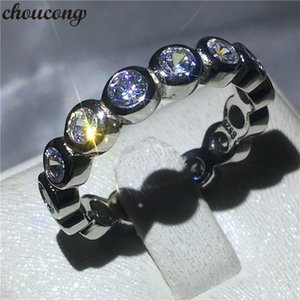 choucong Fine Finger Ring Diamond 925 Sterling Silver Engagement Wedding Band Rings for women Bridal Jewelry
