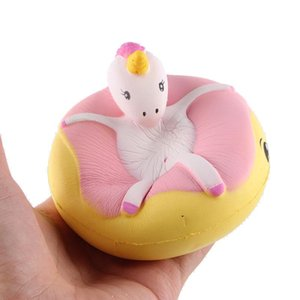 Creative Colorful cute unicorn squishy Swimming unicorn donut squishy decompression toy Christmas party gift slow rebound