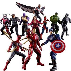 Vendita calda The Avengers azione PVC Figure Marvel Heros 17 centimetri alto Hulk Ant-Man Black Panther Ultron figura gioca il trasporto libero