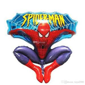 Çocuk oyuncakları Örümcek Adam balonlar oyuncak Alüminyum Mutlu Örümcek Adam Düğün Doğum Günü Partisi Malzemeleri için Kırmızı Balon Dekorasyon Karikatürler Folyo Ballon