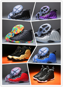 Kids High Quality Unisex Kids Penny Hardaway Foam One Basketball Shoes Boys Purple Sports Girls Sneakers for Child Children Athletic Teenag