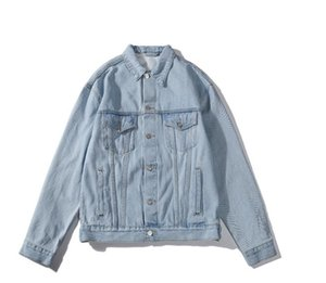 2020 new luxury top denim jacket made of stenciled jacket designer