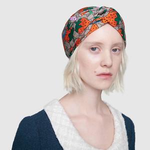 Designer 100% seta fasce per capelli Turbante fascia di stile di estate delle donne di nuovo di marca fragola 2020 fasce foulard migliore qualità S944
