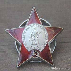 PC 1 El Soviet roja de cinco estrellas Divisa de Rusia KGB la medalla emblema del Comité de Seguridad del Estado soviético Insignia rusa de 50 mm insignia del ejército