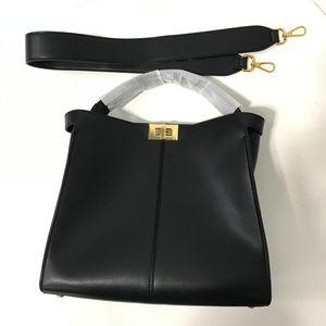 2019 venta caliente famoso diseñador de la marca de alta calidad de las mujeres F bolsa bandolera color del contraste del cuero auténtico Crossbody del monedero del bolso del mensajero