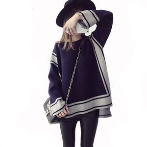 L'autunno e l'abbigliamento invernale maternità nuovo modo di usura Gravidanza maternità maglione vestito largo maglia cappotto donne incinte maglione