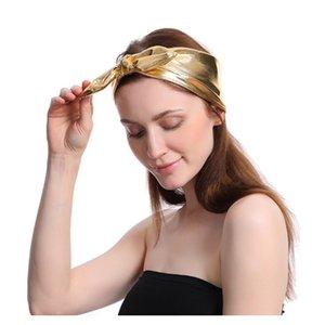 Argent doré Arc Bandeau Sports Stretch Yoga élastique Course à cheveux Bandeau Bandeaux de sport Bandeau de travail Travailler sur Gym Stretch Headwraps