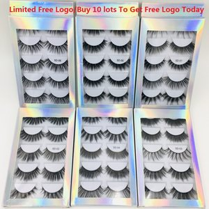 Caliente NUEVOS 5 pares láser de alta calidad 5D visón pelo pestañas gruesas pestañas falsas naturales con la caja del logotipo libre para más de 10 lotes