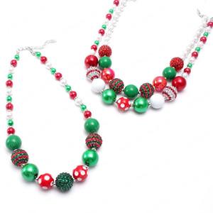 أحدث نمط 3 مكتنزة طفل مطرز قلادة عيد الميلاد الفتيات الاطفال هدية سلسلة اليدوية قلادة المجوهرات الزاهي