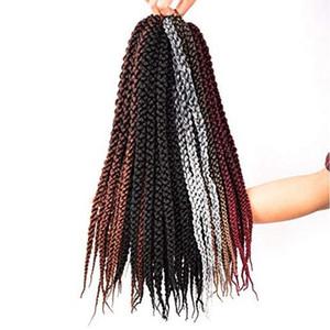 Beauty Hair 3D Cubic Twist Crochet Braid 18inch (12Roots / Piece 3 Pieces) Ombre Crochet sintético para el cabello para mujeres Fshion (T1B / 27)