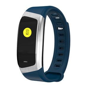 Color Screen Fitness Tracker Heart Rate Monitor Diamond Cutting Design Waterproof Smart Band Blood Pressure Watch