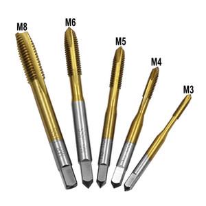 7PCS / Set HSS M3 M4 M5 M6 M8 M10 M12 Máquina recta estriado tornillo rosca métrica Plug mano Tap Drill Set Herramientas manuales # 25
