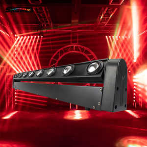 LED Bar Beam Moving Head Light RGBW 8x12W Perfetto per Mobile DJ, Party, discoteca, SHEHDS illuminazione della fase