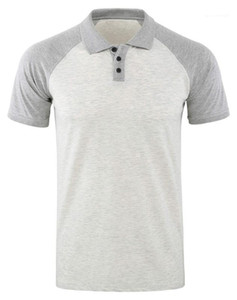 Hauts pour hommes T-shirts Mode Designer Casual Hommes Lapel Polos manches courtes Contraste normal Couleur Patchwork Hommes