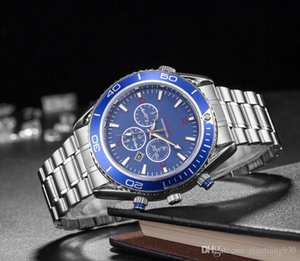 NEW Men's luxury stainless steel blue dial watch 007 watch Fashion business quartz watch mens designer watches montres pour hommes