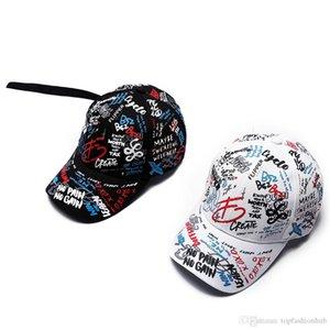 Весна граффити печать бейсболки Ребенок родитель шлем Длинный хвост хип-хоп шляпа Оптовая крышка