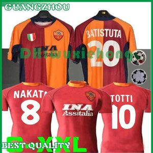 2000 2001 RETRO Roma soccer jersey 00 01 TOTTI BATISTUTA Candela Montella shirt classic commemorate Collection 2002 rome Maglia da calcio