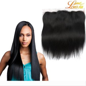 Brazilian Straight Lace Frontal Closure Malaysian Indian Peruvian Cambodian Best Unprocessed Virgin Human Hair Closures 13x4 Lace Closure