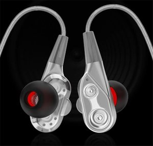 In-ear double-moving coil running game music headphones wire-controlled fever HIFI headphones