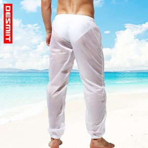 mens designer Semitransparent sexy breathable beach travel pants