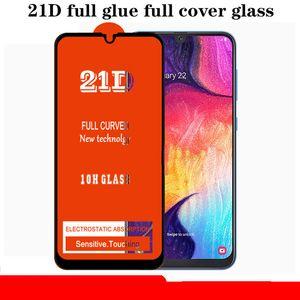Samsung Galaxy S10 E Note 10 Lite A10S A20S A30S A40S A50S A70S için 21D Tam Tutkal Kapak Patlama Temperli Film Ekran Koruyucu Güvenlik