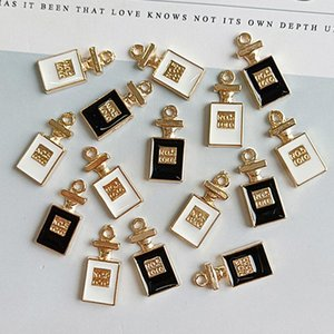 Nouvelle arrivée Lettre Nombre bouteille de parfum Bijoux Accessoires Diy Bouteille de Parfum Noir Blanc Bijoux Charms Composants