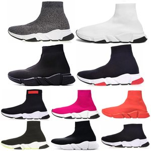 Breathable Speed Trainer grey Trend men women Sporst sock Shoes Triple black white mens trainer blue red Casual shoes sneakers size 36-45