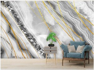 photo wall murals wallpaper Modern light luxury abstract crystal marble wallpapers background wall