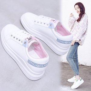 Fairy2019 белый маленький сезонный джокер студент повседневная обувь с плоским дном Skate Woman