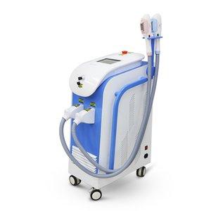2020 2 handles 360 magneto-optic OPT SHR hair removal machine powerful Elight IPL skin rejuvenation device DHL free shipping