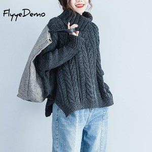 Big Batwing Sleeve Sweater And Pullover For Women 2020 Autumn Winter Turtleneck Sweater Loose Casual Female Jumper Plus Size