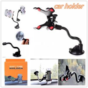 Universal KFZ Halter Halterung mit Clip Saugnapf 360 Grad gedrehter Windschutzscheibe Telefon-Halter für 4,7-Zoll-6,8inch Handy mit Box