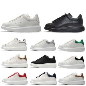 Designer REFLEXIVO sapatos de Plataforma para a menina Mulheres Homens sapatos de Plataforma de couro preto Branco Plana Casual Festa de Casamento Esportes tamanho 36-44