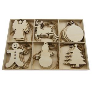 2020 creativi ciondoli appesi in legno Decoration Coasters Ornamenti di Natale Mestieri di natale albero perfetto Regali Complementi d'arredo